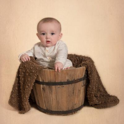 baby in barrel baby photographer dublin