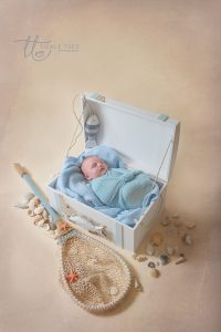 Newborn baby photography nautical seaside theme