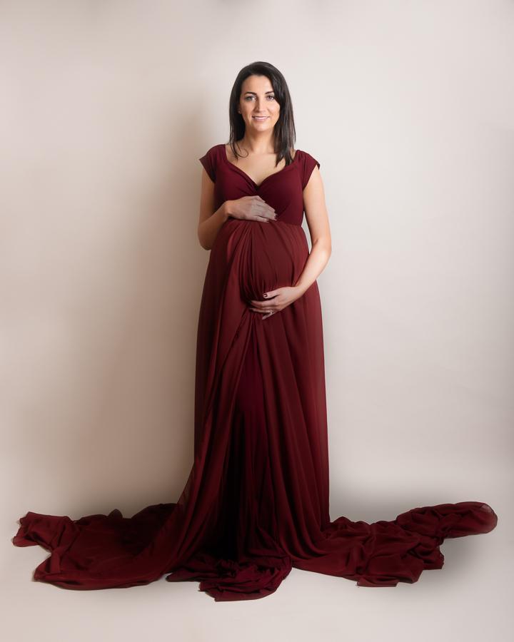 Maternity photos gown long dress